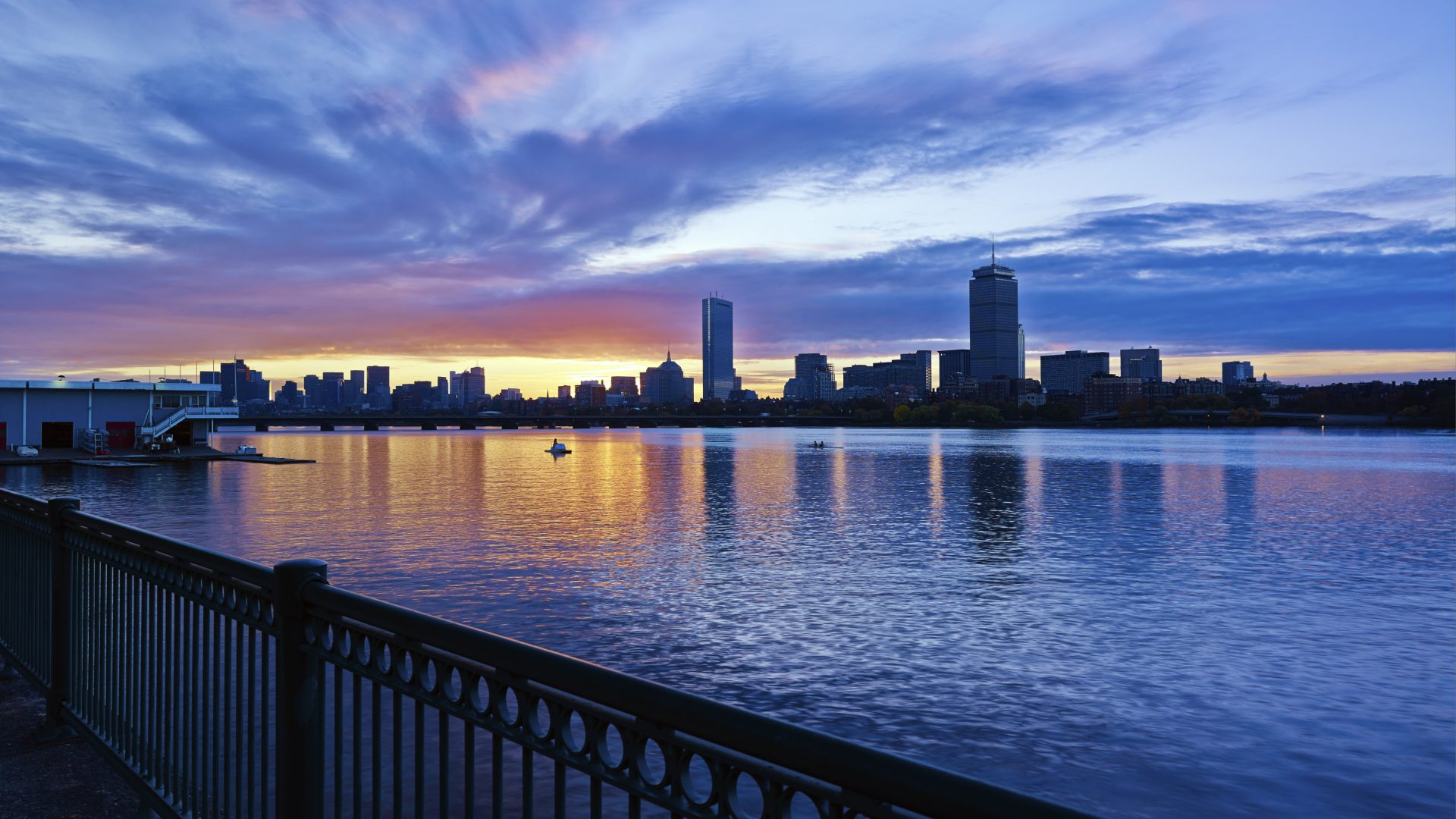 Autumn Sunrise over the Boston Skyline ...