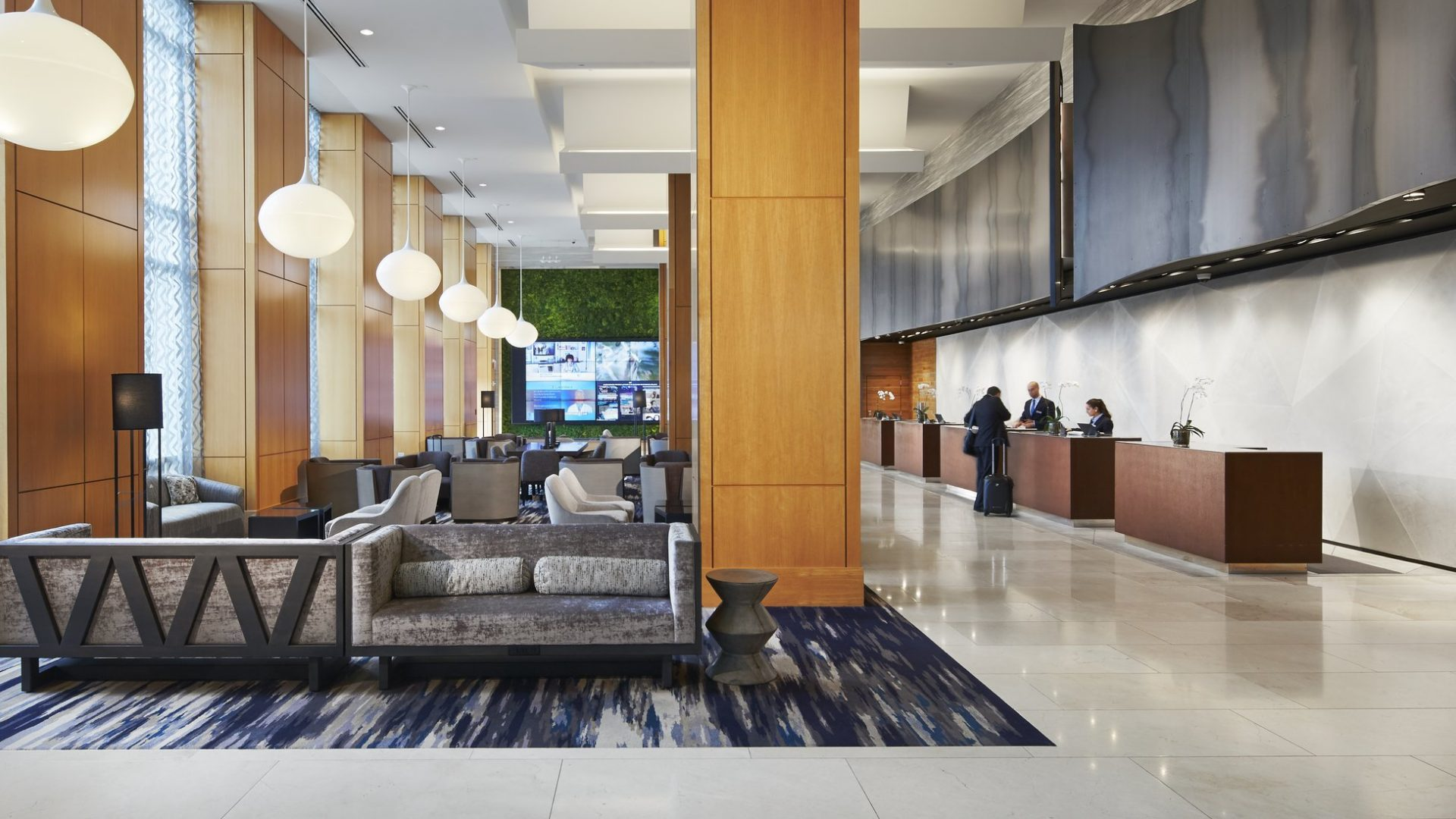 Guest checks in at Loews Chicago O'Hare Hotel