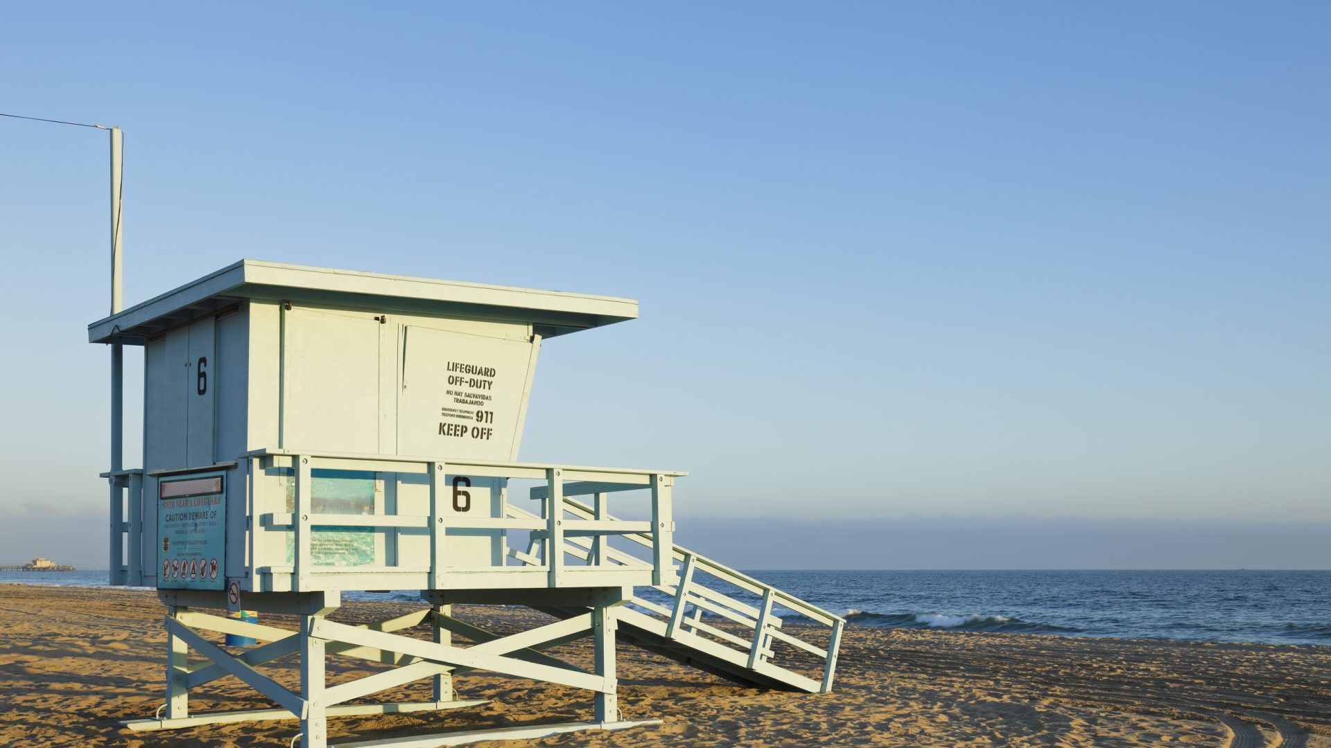 Lifeguard Stand on Santa Monica Beach