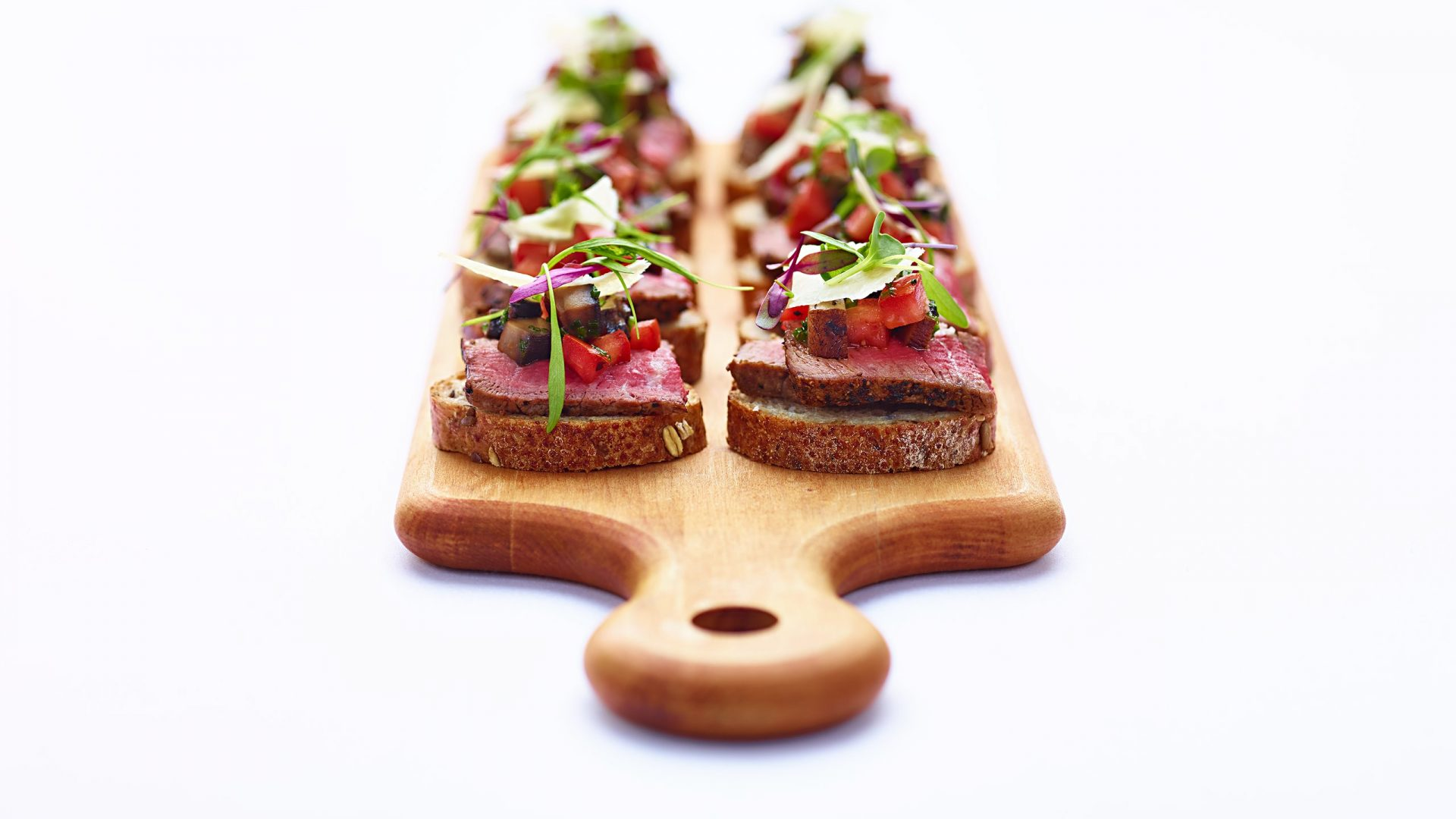 Roast Beef Open Faced Sandwich | Catering Food & Beverage | Loews Hotels & Resorts