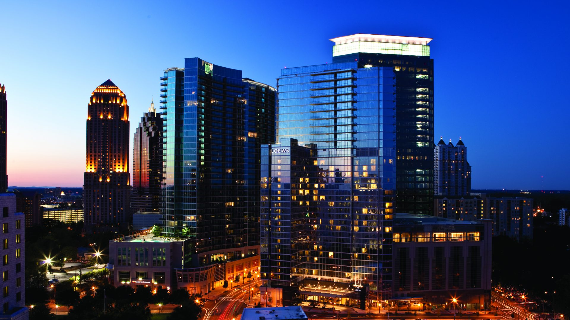 Midtown Atlanta Skyline Loews Hotel