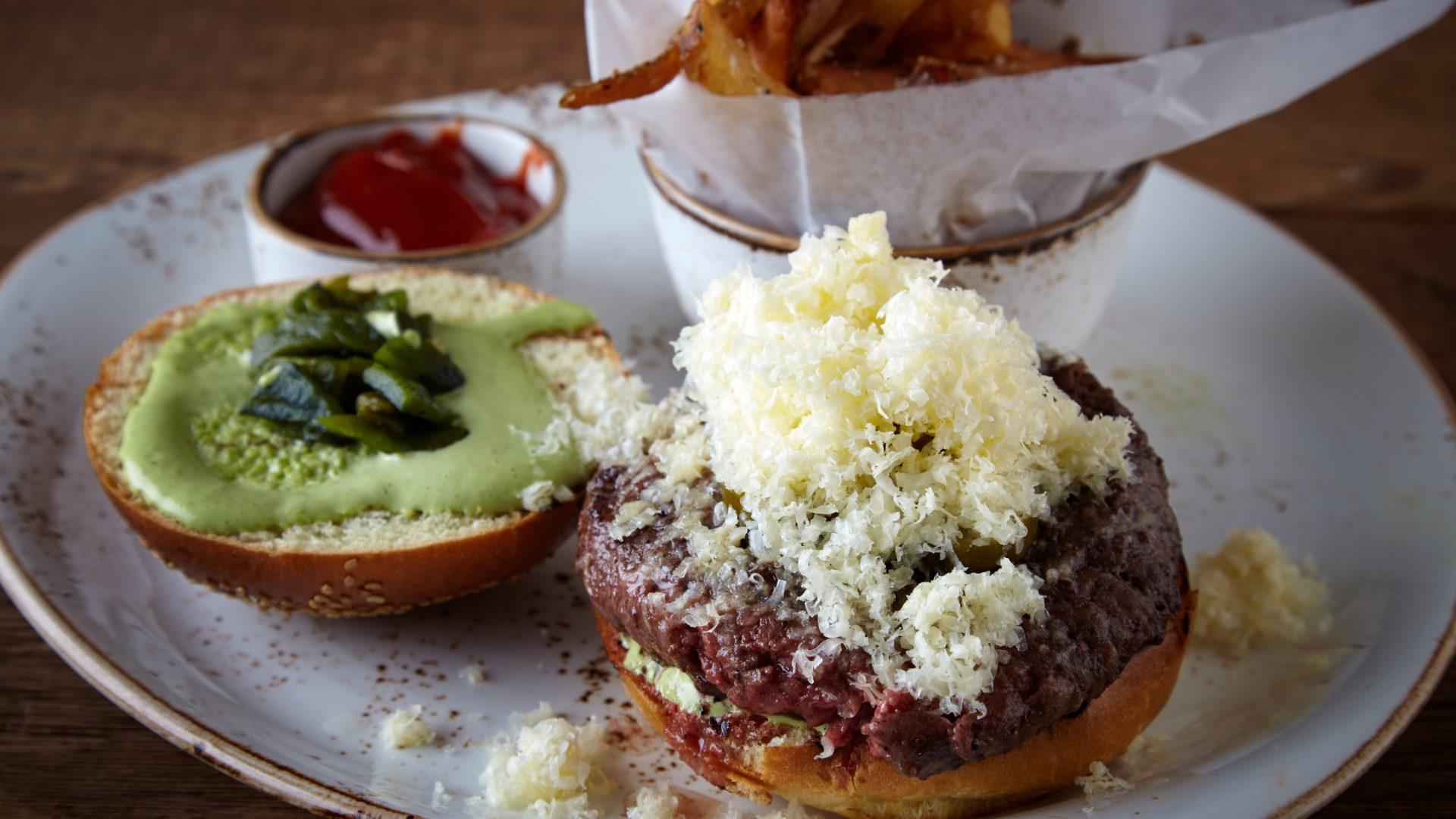 Dry Aged Burger at Bank & Bourbon | Loews Philadelphia Hotel