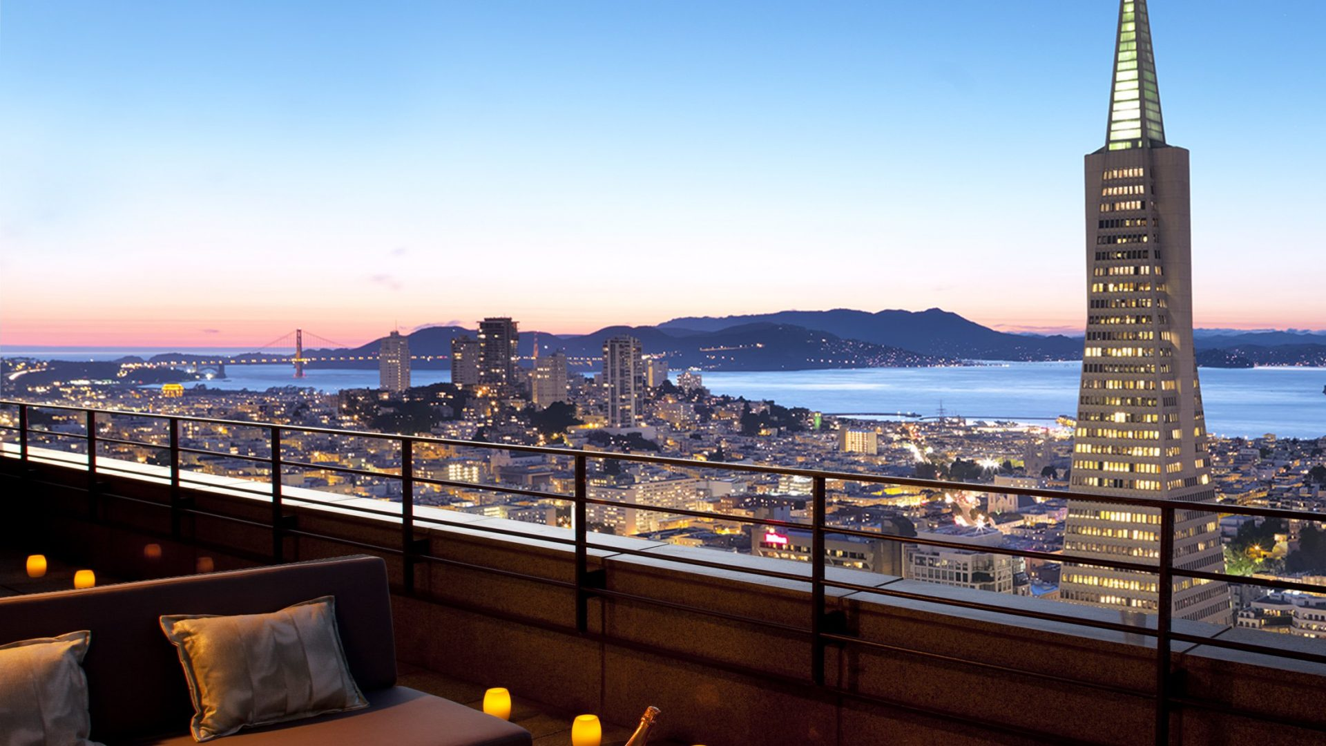 Hotel Balcony and San Francisco Skyline | Loews Regency San Francisco