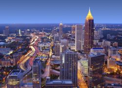 Horizonte de la zona céntrica de Atlanta   Loews Atlanta Hotel