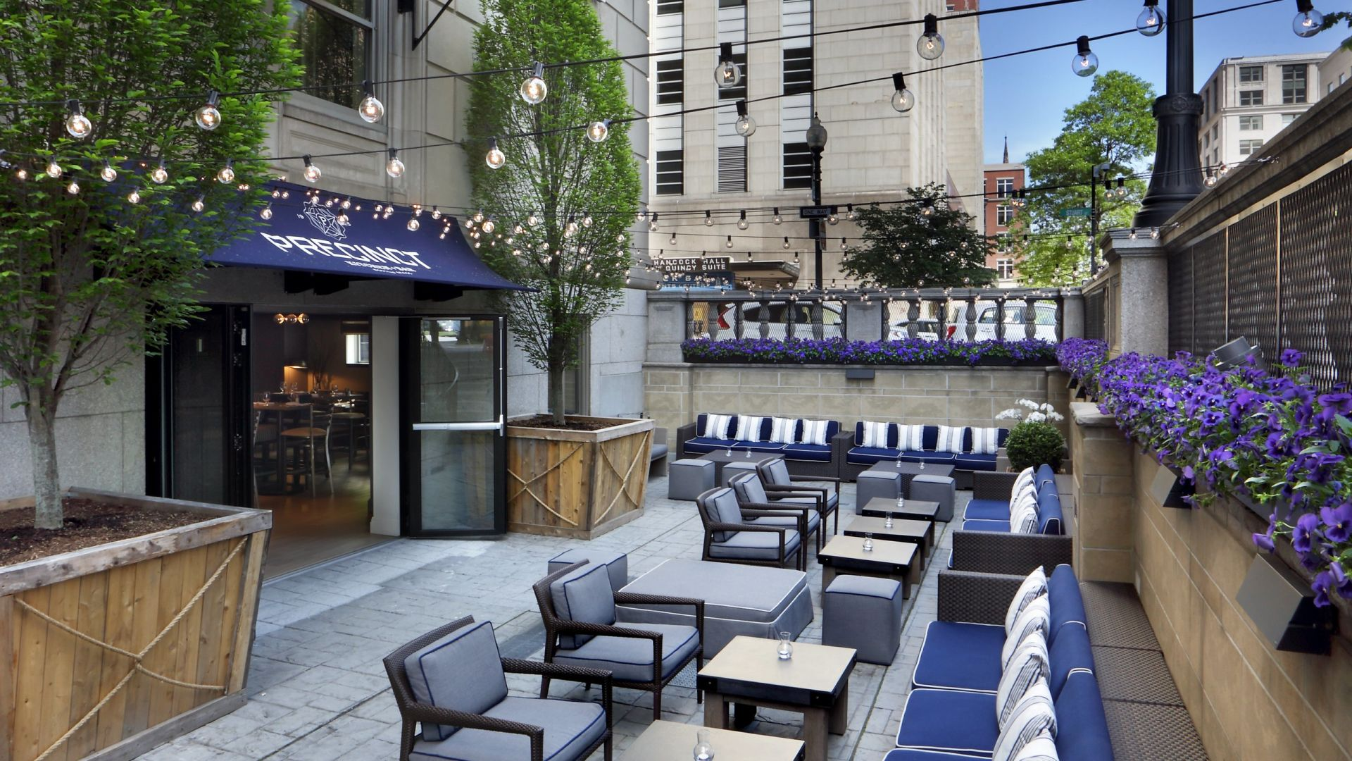 Patio at Precinct Kitchen + Bar | Loews Boston Hotel