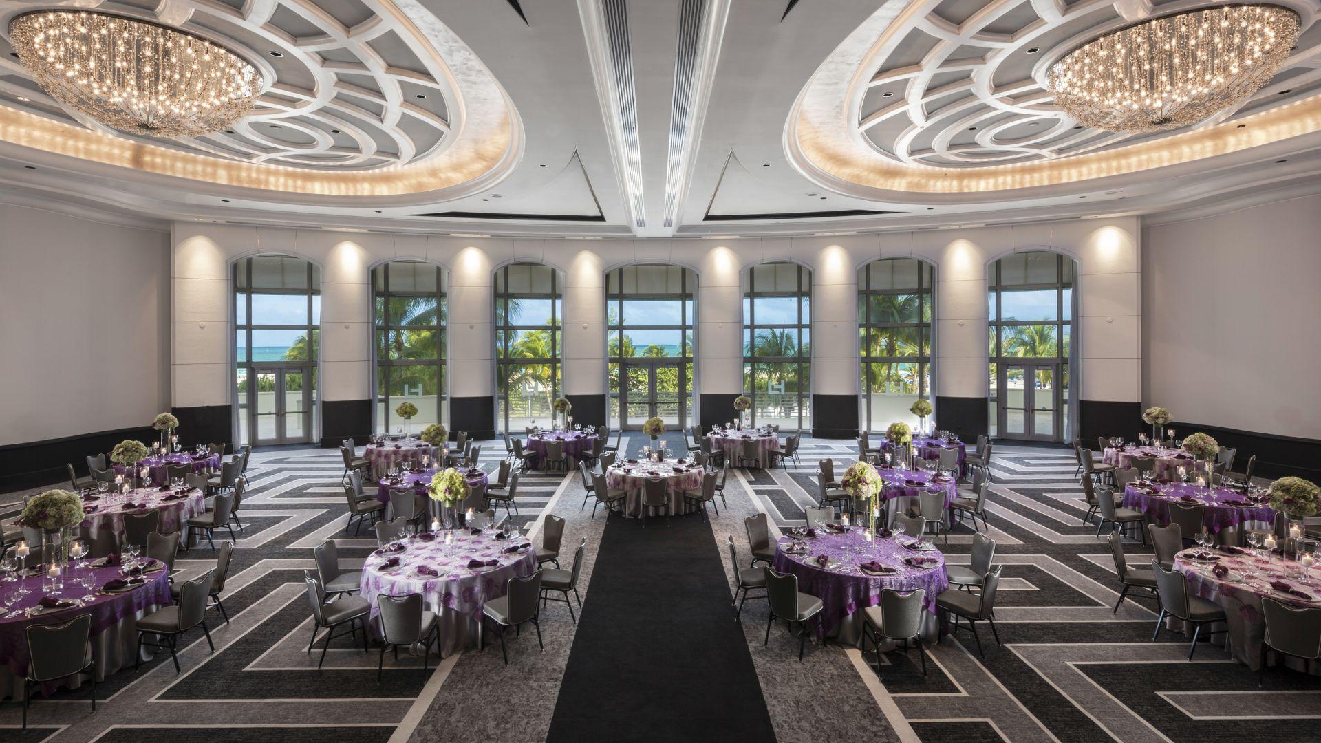 Salle de bal Americana avec vue sur l'océan | Loews Miami Beach Hotel