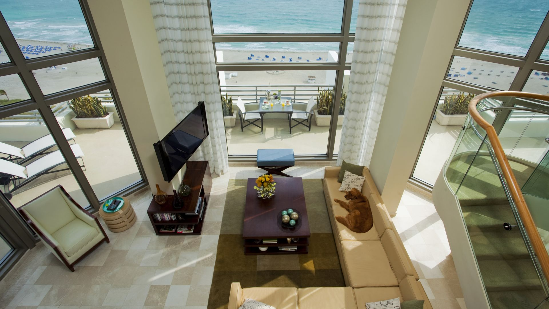 Suite presidencial frente al mar con balcón | Loews Miami Beach Hotel