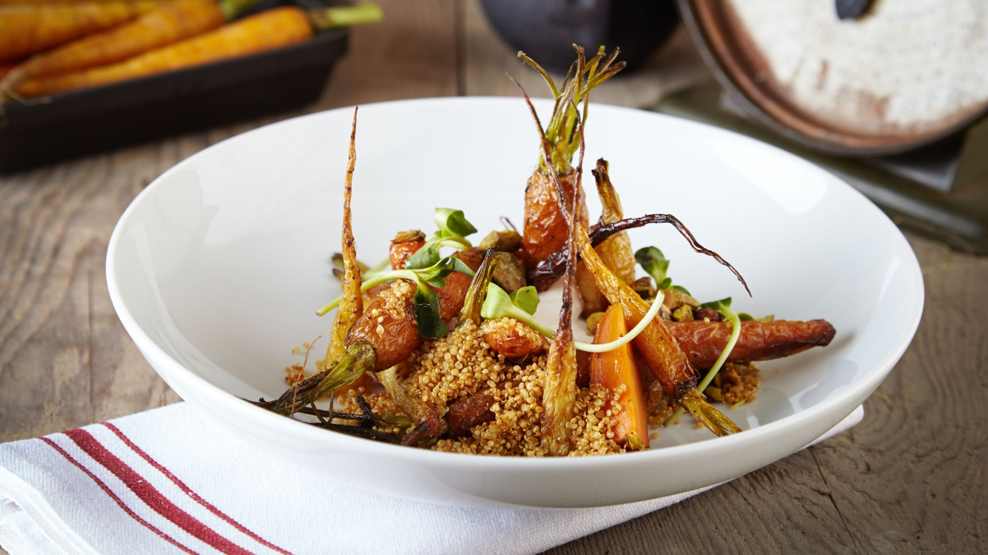 Reducción de zanahorias asadas en Bank & Bourbon | Loews Philadelphia Hotel