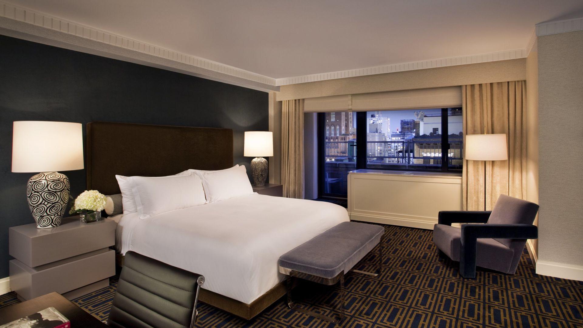Quarto da suíte apartamento exclusiva em estilo clássico anos1970 | Loews Regency New York Hotel