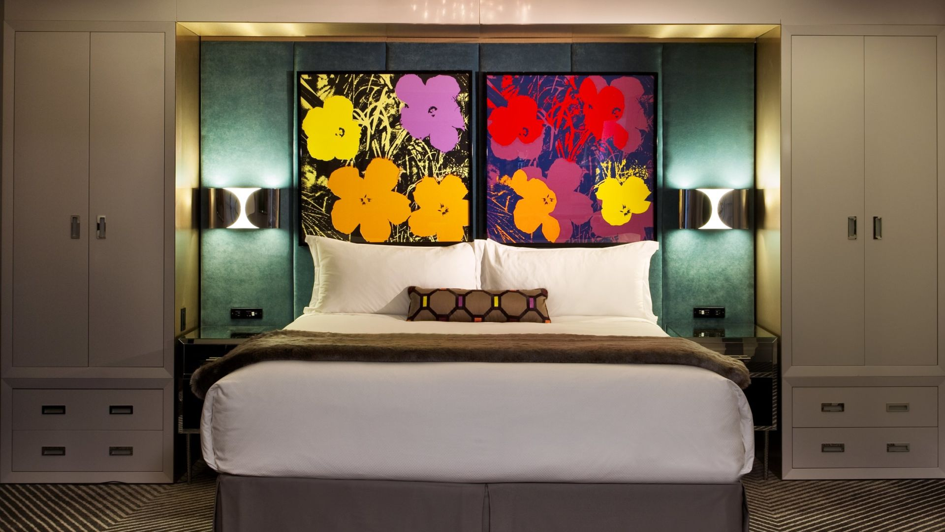 Pop Art Signature Suite Bedroom | Loews Regency New York Hotel