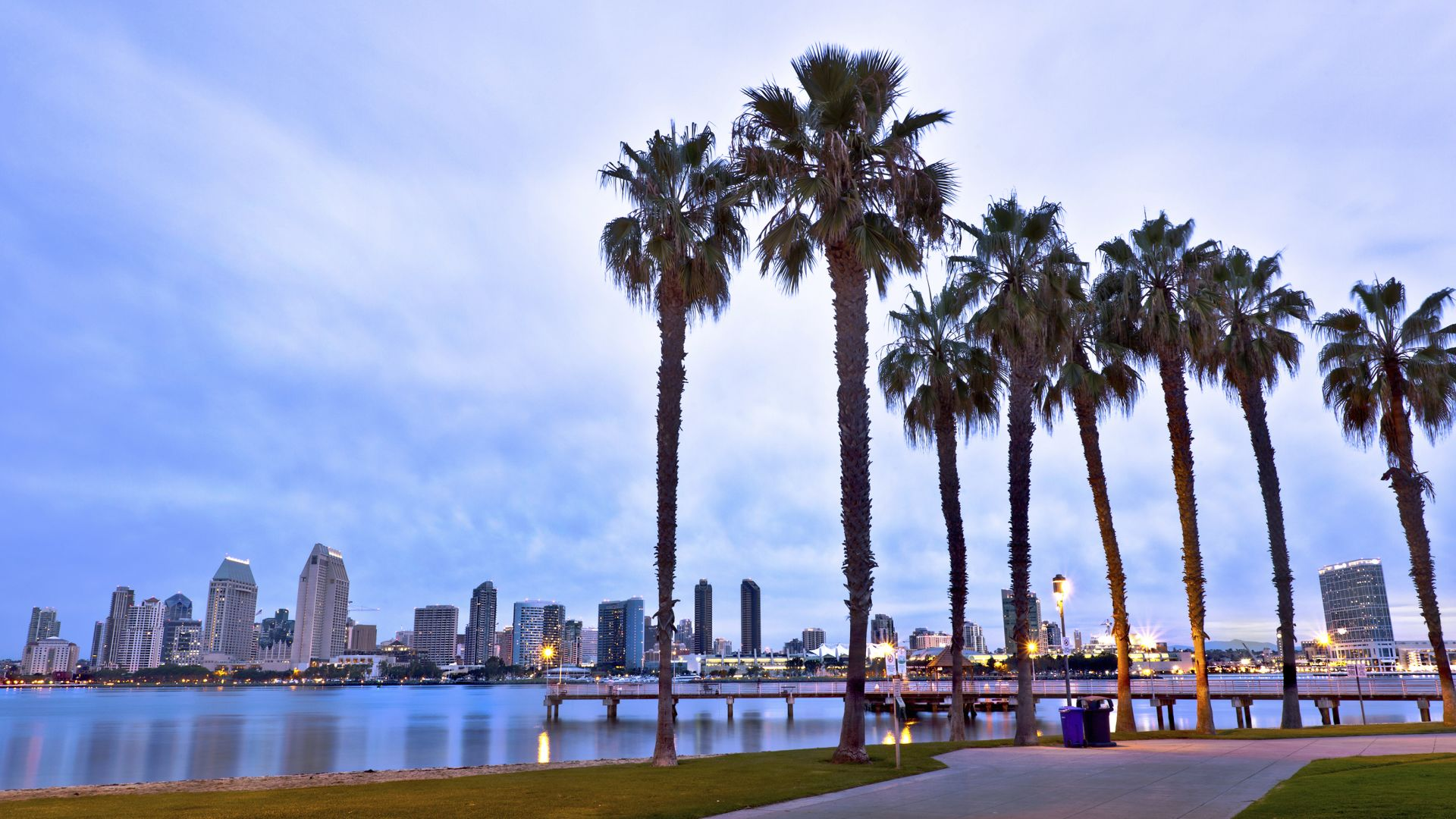 Centro de San Diego, California, y palmeras | Loews Coronado Bay Resort