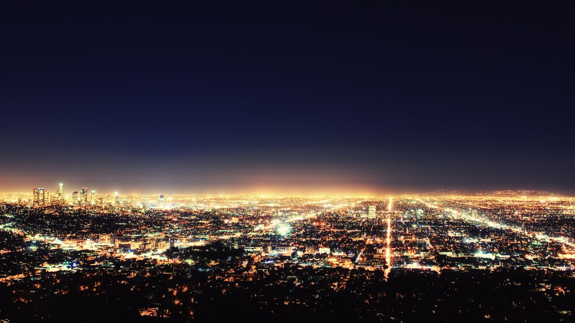 Los Angeles At Night | Loews Hollywood Hotel