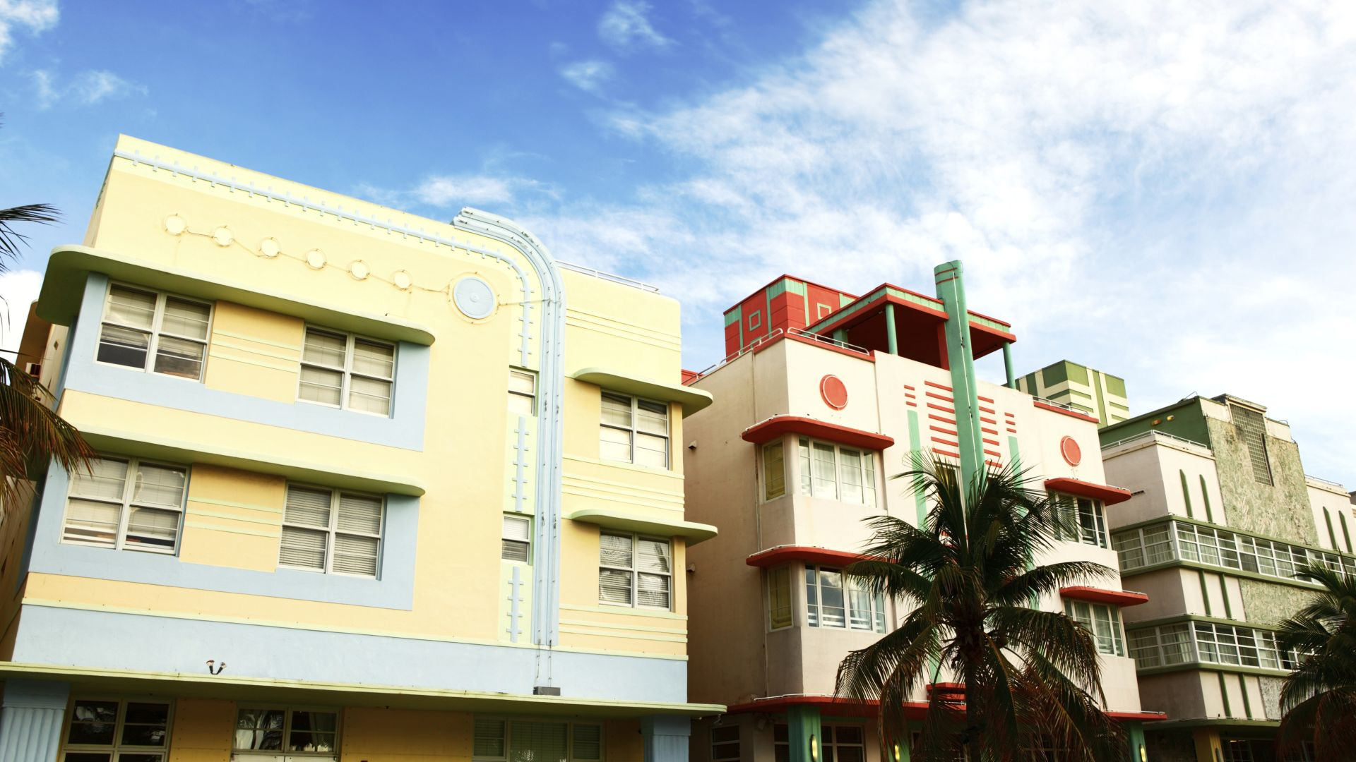Bâtiments Art Deco sur Ocean Drive | South Beach | Loews Miami Beach Hotel