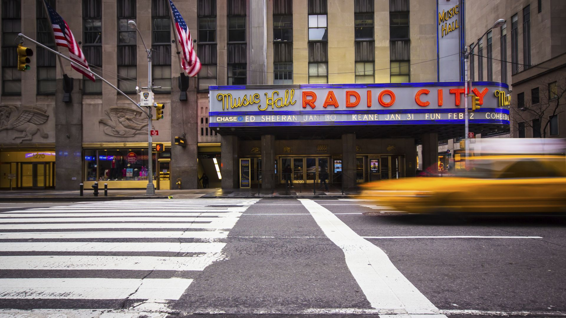 Radio City Music Hall en la ciudad de Nueva York