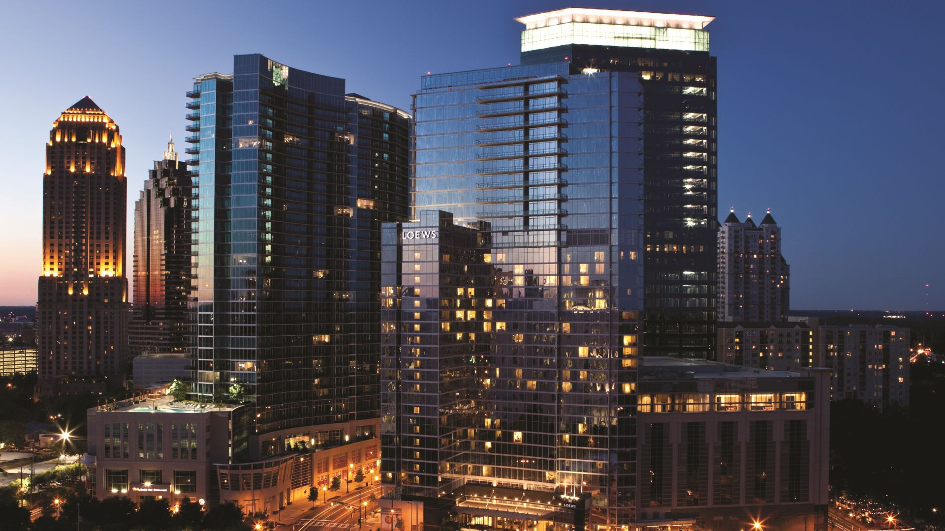 Horizonte de la zona céntrica de Atlanta | Loews Atlanta Hotel