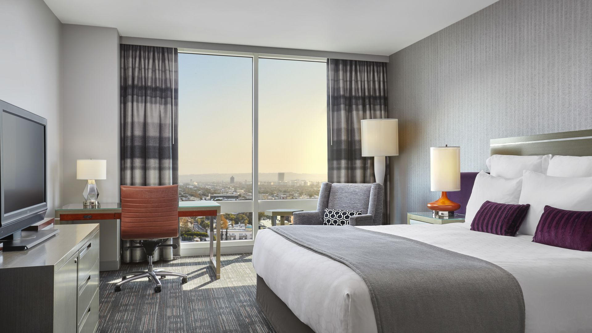 King con vista al horizonte | Loews Hollywood Hotel