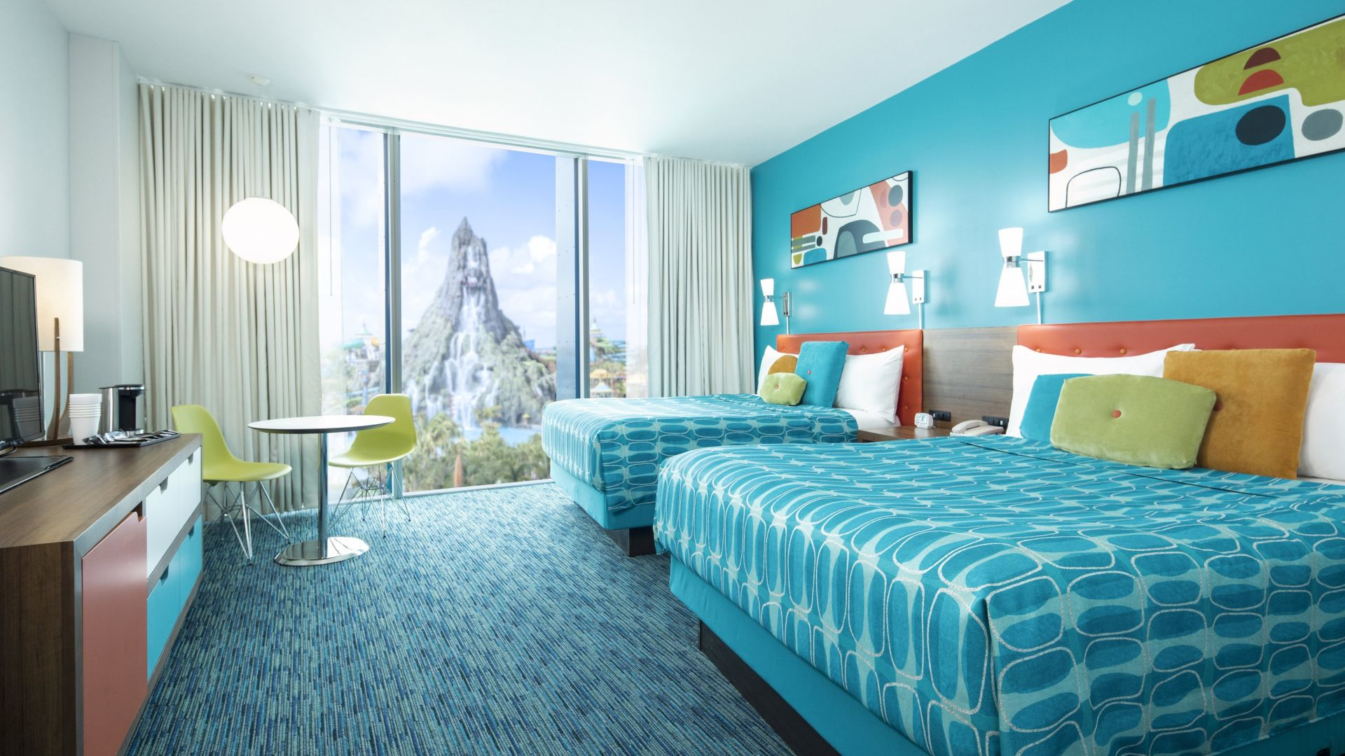 Volcano View Double Queen | Universal's Cabana Bay Beach Resort