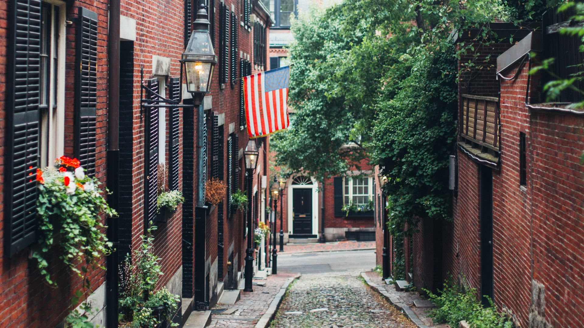 Boston cobble stone streets