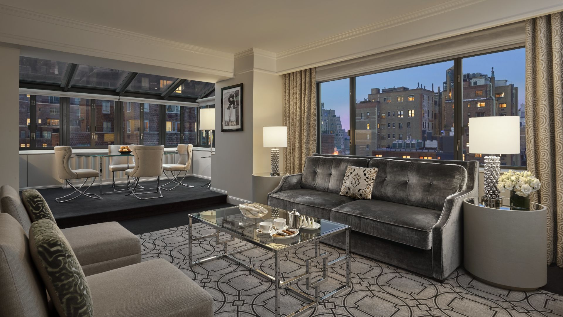 Atrium Suite Living Room | Loews Regency New York Hotel