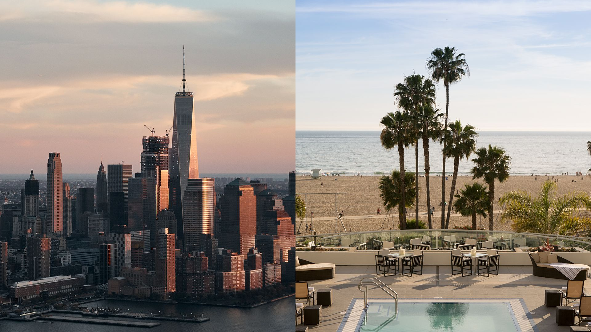 <strong> Skylines or Shorelines? | Big city dreams or resort Rejuvenation? Wander Your Way.</strong>|A Wonderful|Place to Wander|Let's Go